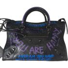Leather Shoulder Bag BALENCIAGA City Multicolor