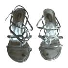 Sandales à talons LOUIS VUITTON Argenté, acier