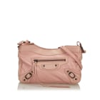 Leather Shoulder Bag BALENCIAGA Pink