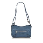 Leather Shoulder Bag BALENCIAGA Blue
