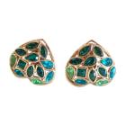 Earrings YVES SAINT LAURENT Green