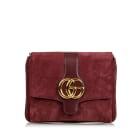 Leather Shoulder Bag GUCCI Red