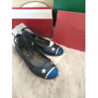 Buckle Shoes BONPOINT Blue, navy, turquoise