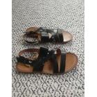 Sandales plates  H&M Noir