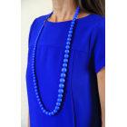 Sautoir VINTAGE Bleu, bleu marine, bleu turquoise
