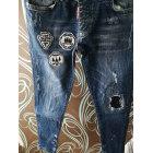 Pantalon slim DSQUARED2 gris