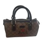 Leather Handbag GUCCI Brown