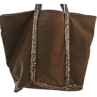 Non-Leather Handbag VANESSA BRUNO Gray, charcoal