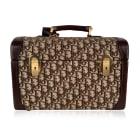 Non-Leather Handbag DIOR Brown