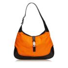 Leather Shoulder Bag GUCCI Orange