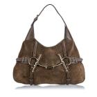 Leather Shoulder Bag GUCCI Brown