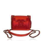 Non-Leather Shoulder Bag CHANEL Red, burgundy