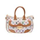 Non-Leather Handbag LOUIS VUITTON White, off-white, ecru