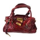 Leather Handbag CHLOÉ Paddington Red, burgundy