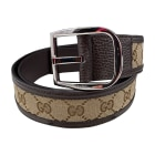 Ceinture large GUCCI Marron