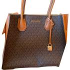 Leather Shoulder Bag MICHAEL KORS Brown
