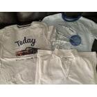 Tee-shirt CYRILLUS Gros - bleu - blanc