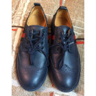 Lace Up Shoes GUCCI Blue, navy, turquoise