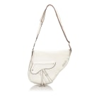 Leather Shoulder Bag DIOR White