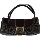 Leather Handbag CÉLINE Brown