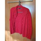 Vest, Cardigan AVENTURES DES TOILES Red, burgundy