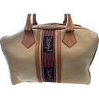 Non-Leather Handbag YVES SAINT LAURENT Beige, camel