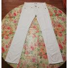 Jeans droit FORNARINA Blanc, blanc cassé, écru