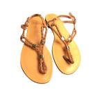 Sandales plates  COSMOPARIS Doré, bronze, cuivre