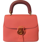 Leather Shoulder Bag BURBERRY Pink, fuchsia, light pink