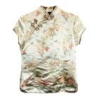 Top, tee-shirt VINTAGE Doré, bronze, cuivre