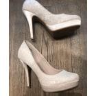 Escarpins compensés NEW LOOK Blanc, blanc cassé, écru