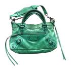Leather Handbag BALENCIAGA City Green