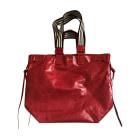 Leather Handbag ISABEL MARANT Red, burgundy