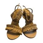 Sandales à talons BURBERRY Gris brun