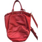 Leather Handbag VANESSA BRUNO Red, burgundy