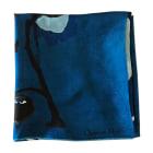Silk Scarf DIOR Blue, navy, turquoise