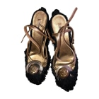 Heeled Sandals MIU MIU Black
