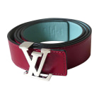 Skinny Belt LOUIS VUITTON Red, burgundy