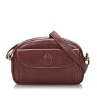 Leather Shoulder Bag CARTIER Red