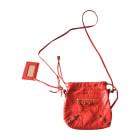Leather Shoulder Bag BALENCIAGA Red, burgundy