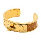Bracelet HERMÈS Kelly Doré, bronze, cuivre
