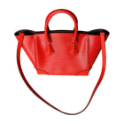 Leather Handbag LOUIS VUITTON Red, burgundy