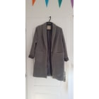 Manteau PULL & BEAR Gris, anthracite