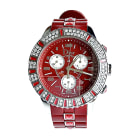 Wrist Watch DIOR Christal Red, burgundy
