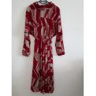 Robe mi-longue VINTAGE Rouge, bordeaux