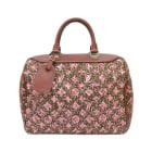 Non-Leather Handbag LOUIS VUITTON Red, burgundy
