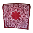 Silk Scarf GUCCI Hysteria Red, burgundy