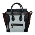 Leather Handbag CÉLINE Luggage Blue, navy, turquoise
