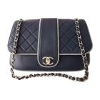 Leather Handbag CHANEL Timeless Blue, navy, turquoise