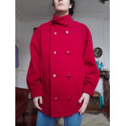 Manteau VINTAGE Rouge, bordeaux